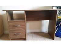 Wooden Study/writing table with 2 smooth drawers