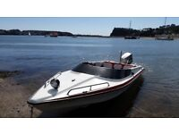 Fonda power/ speed boat with Suzuki 85dt outboard.
