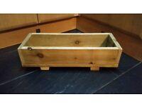 Handmade Wooden Window Box Flower/Herb Pot Planter