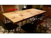 Industrial Dining Table w hair pin legs