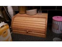 Wooden Bread Bin Great Condition