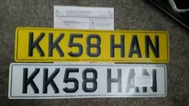Private registration number plate with certificate of entitlement