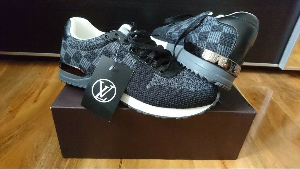 24c023f6302b Louis Vuitton LV Black run away sneakers Running Trainers shoes Size 7