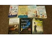 7 fiction paperback books for £3!