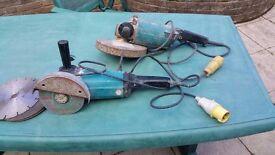 Makita ANGLE GRINDERS. 110V X TWO