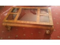 COFFEE TABLE AND MATCHING OCCASIONAL TABLE