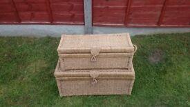 Very Nice 2 piece woven box set