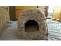 RSPCA faux fur cat igloo