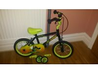 "Children's Apollo Claws 14"" Bike with stablisers"