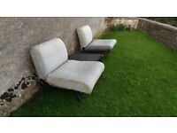 Comfortable garden furniture needs a wash and a new home!