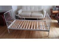Children's Bed - Ikea MINNEN metal frame white