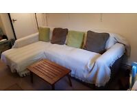 John Lewis 3 seater sofa with storage space and fold out bed - must go this week!