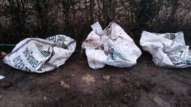 3 Empty 1 tonne gardening / aggregate bags