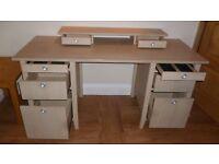 Workstation computer desk large