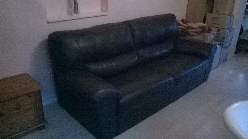 Beautiful dark brown Sofology leather sofa