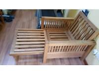Futon style chair frame (cushion included)