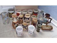Job a lot collection of German beer mug / mugs