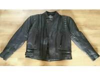 Akito leather motorbike jacket