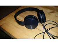 sony black headphones