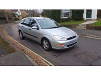 2001 FORD FOCUS ZETEC 1.8 PETROL 5 DOOR HATCHBACK SILVER FULL SERVICE HISTORY 2 KEYS MOT FAILURE