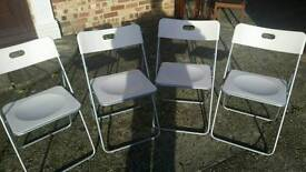 Chairs set of 4 fold up chairs