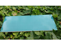 Teal Pinstripe Gloss Wall Tiles - 6sqm + 1 box of damaged edged tiles * offers considered*