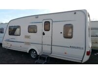 2002 sterling eccles sapphire 5 berth touring caravan with awning & accessories