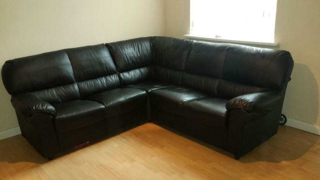 Italian leather sofa 3 piece excellent condition 1 year for P a furniture kirkby