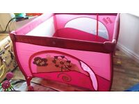 lovely pink playpen excellent condition