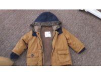 Baby boy Winter parka jacket 12-18m