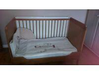 Ikea Leksvik pine cot bed for sale.