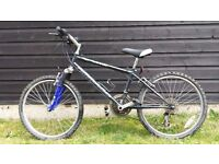 """Boys mountain bike 14"""" frame - front suspension and gears"""