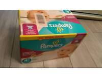Sealed box Pampers 4+ active fit 94 pack