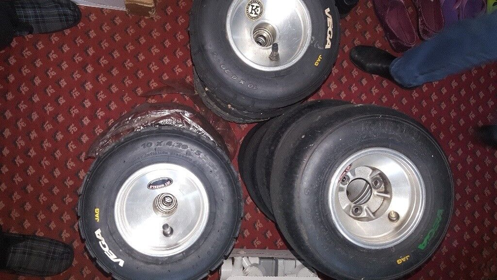 Kart wet and dry rims and Vega tyres