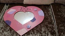 "Customised ""Mollie"" Love Heart Mirror"