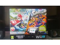 Wii u console with games and pro controller