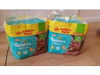 Pampers nappies bundle size 5+