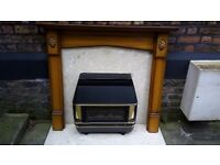 Gas Fire Surround and Marble Hearth ONO