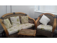 3 Piece Conservatory Whicker Furniture