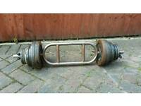 35kg caste iron weight plates tricep barbell