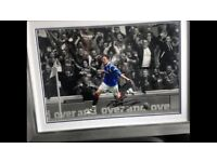 RRC Rangers football club Kyle lafferty autographed picture framed print