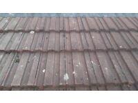 Interlocking toof tiles used approx 500