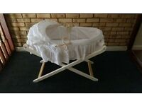 mother care moses basket like new !.. with stand !!