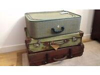 3 x Set of vintage suitcases/luggages
