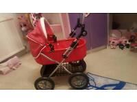Toy folding pram