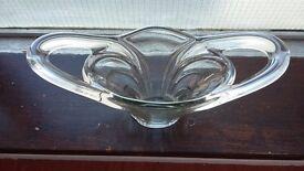 French Art Deco Glass Bowl / Vase