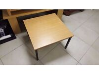 Modern Black Metal Coffee Table with Wood Effect Top in Great Condition