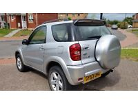 Toyota RAV 4 12months mot service history cheap on fuel tax big boot for family cd alloy £1395