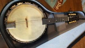 Vintage 1920/30s Melody Major 8 String BANJOLIN (Banjo Mandolin) With Original Hard Case