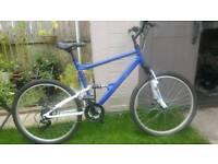 Blue mountain bike 26inch wheels